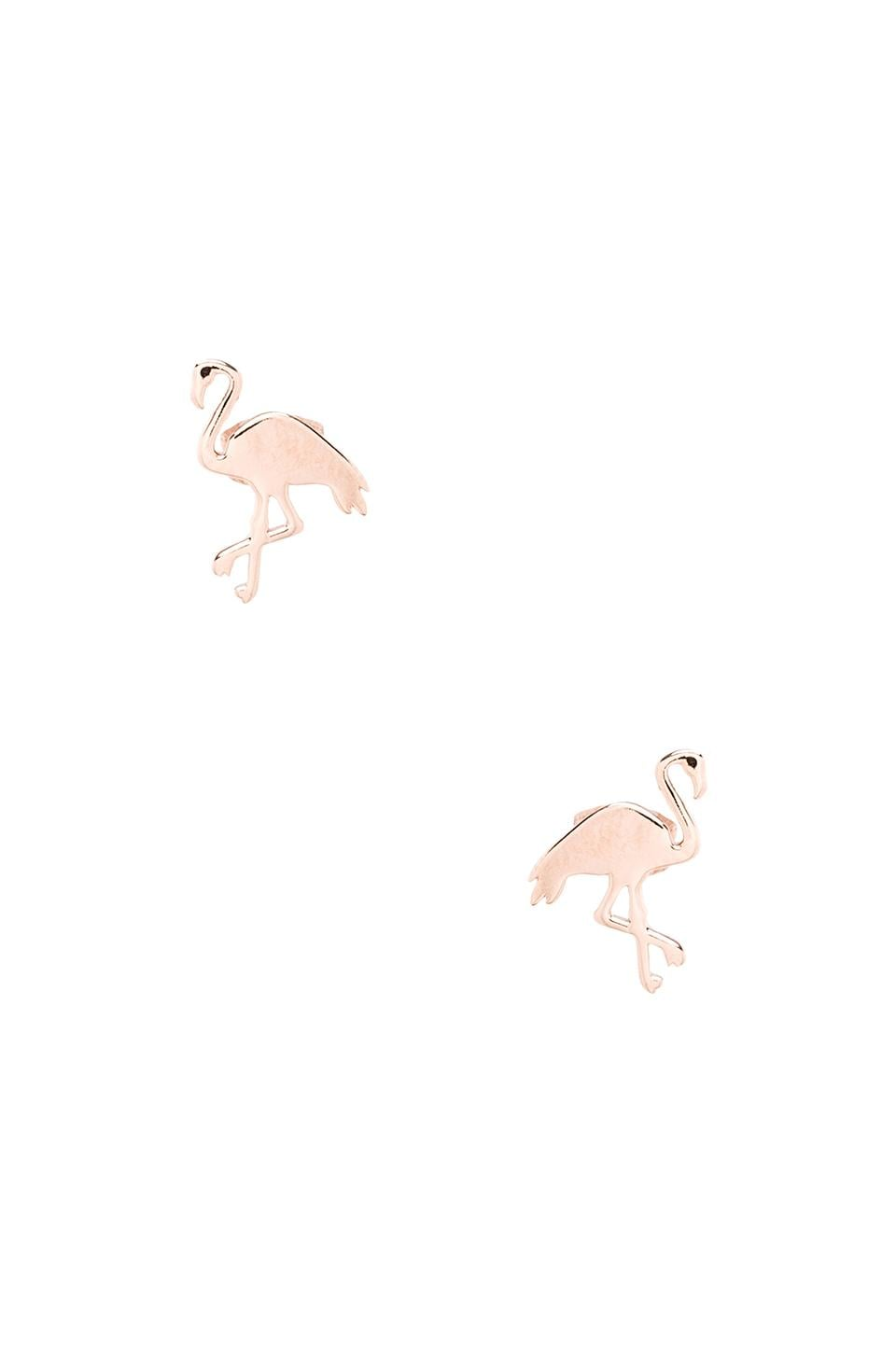 gorjana Flamingo Studs in Rose Gold