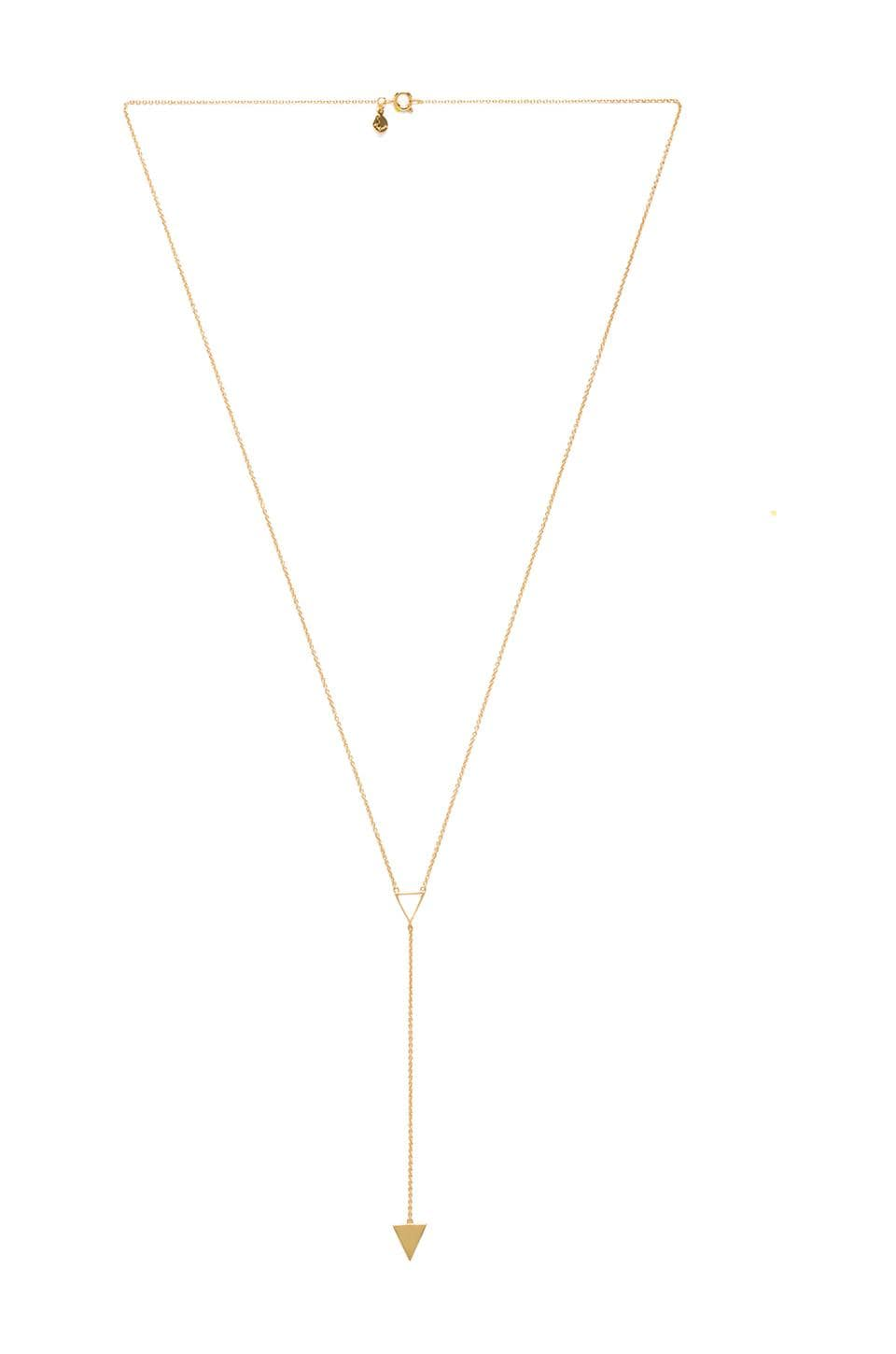gorjana Mika Lariat Necklace in Gold