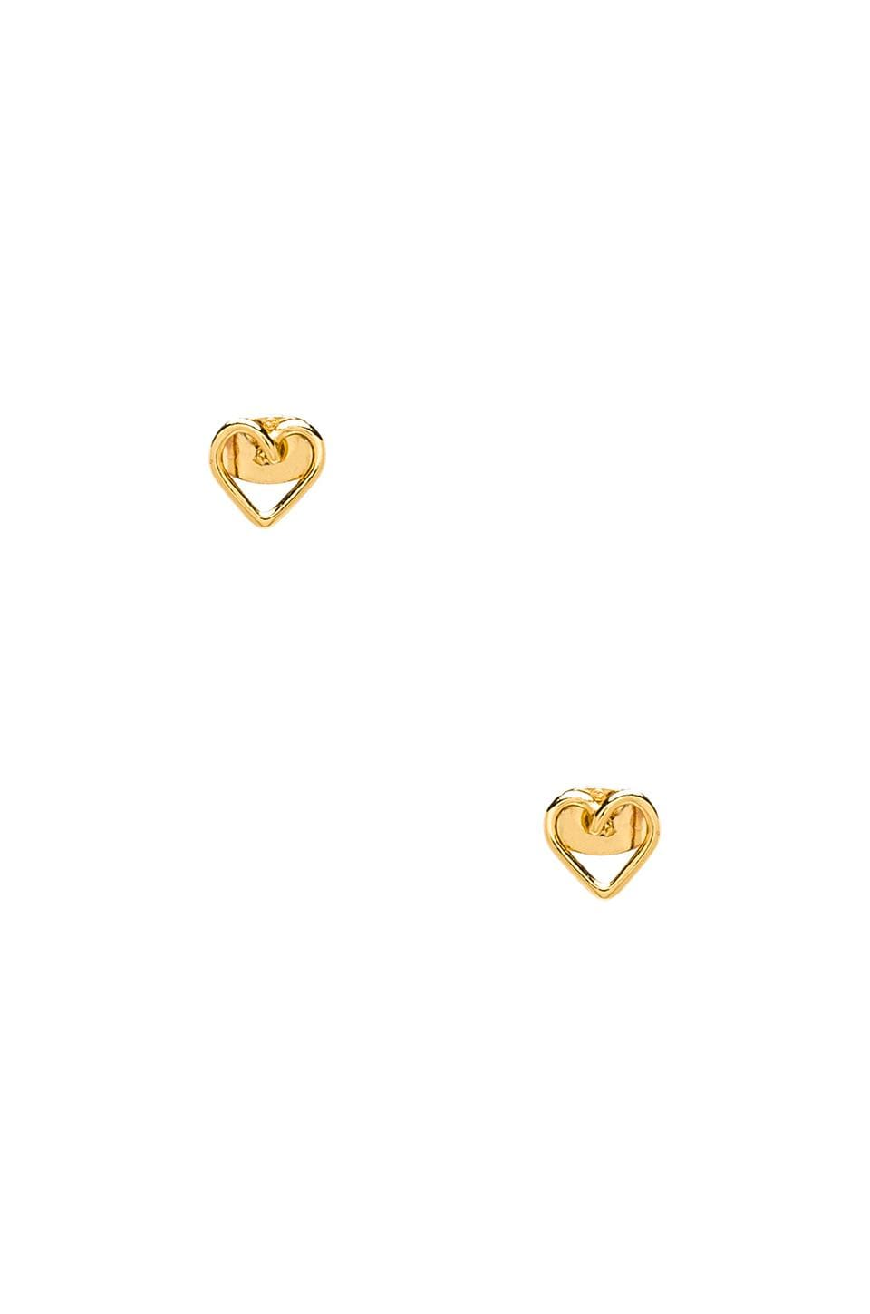 gorjana Cross My Heart Studs in Gold