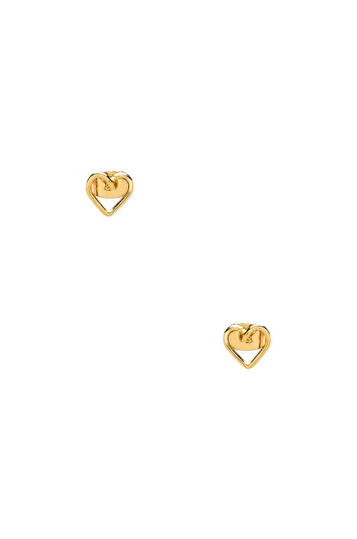 gorjana Cross My Heart Studs in Gold