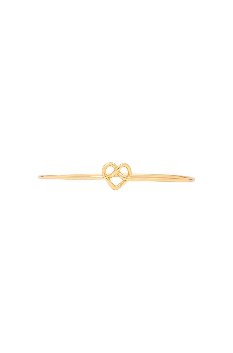 gorjana Cross My Heart Bangle in Gold