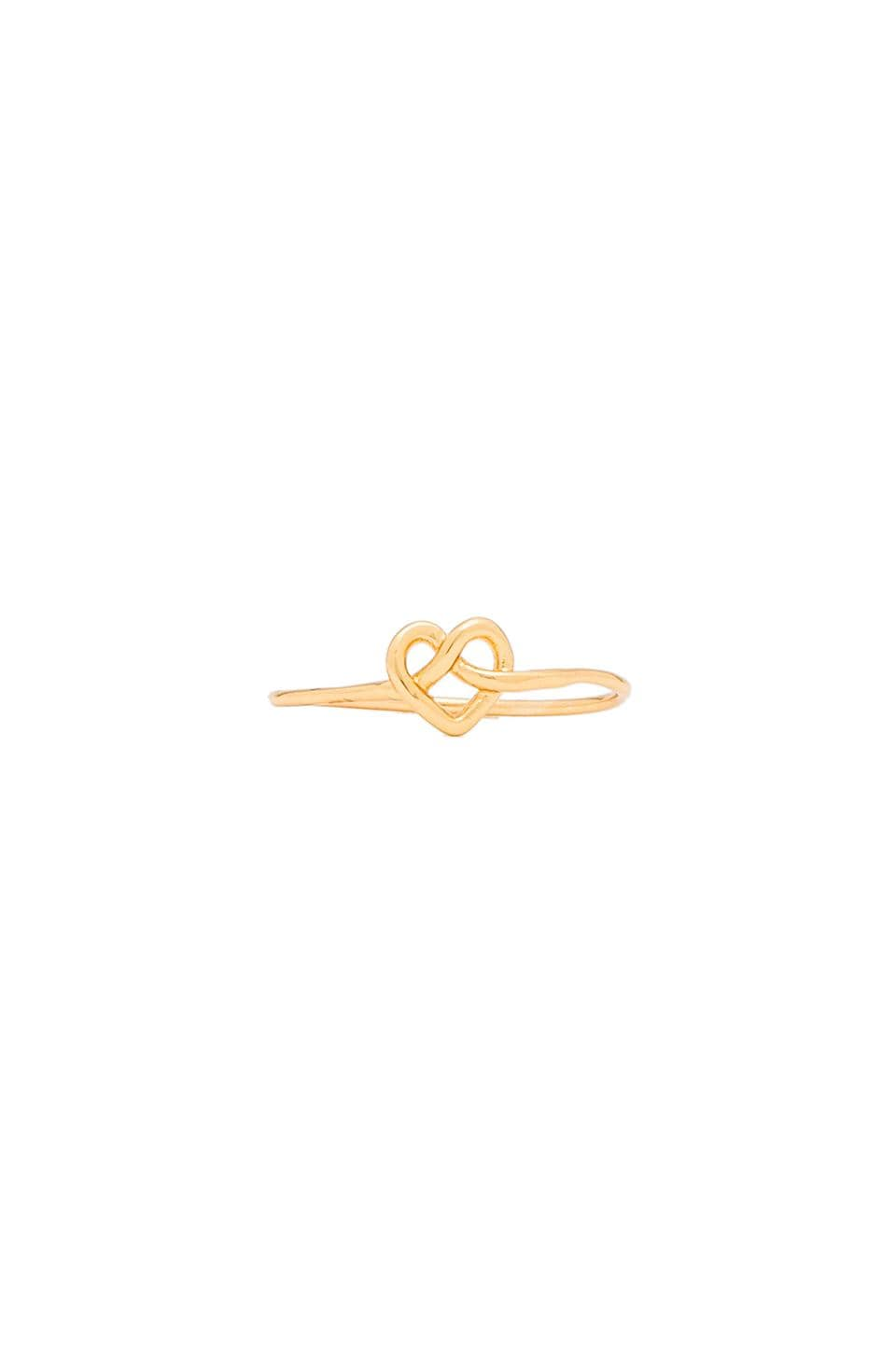 gorjana Cross My Heart Ring in Gold