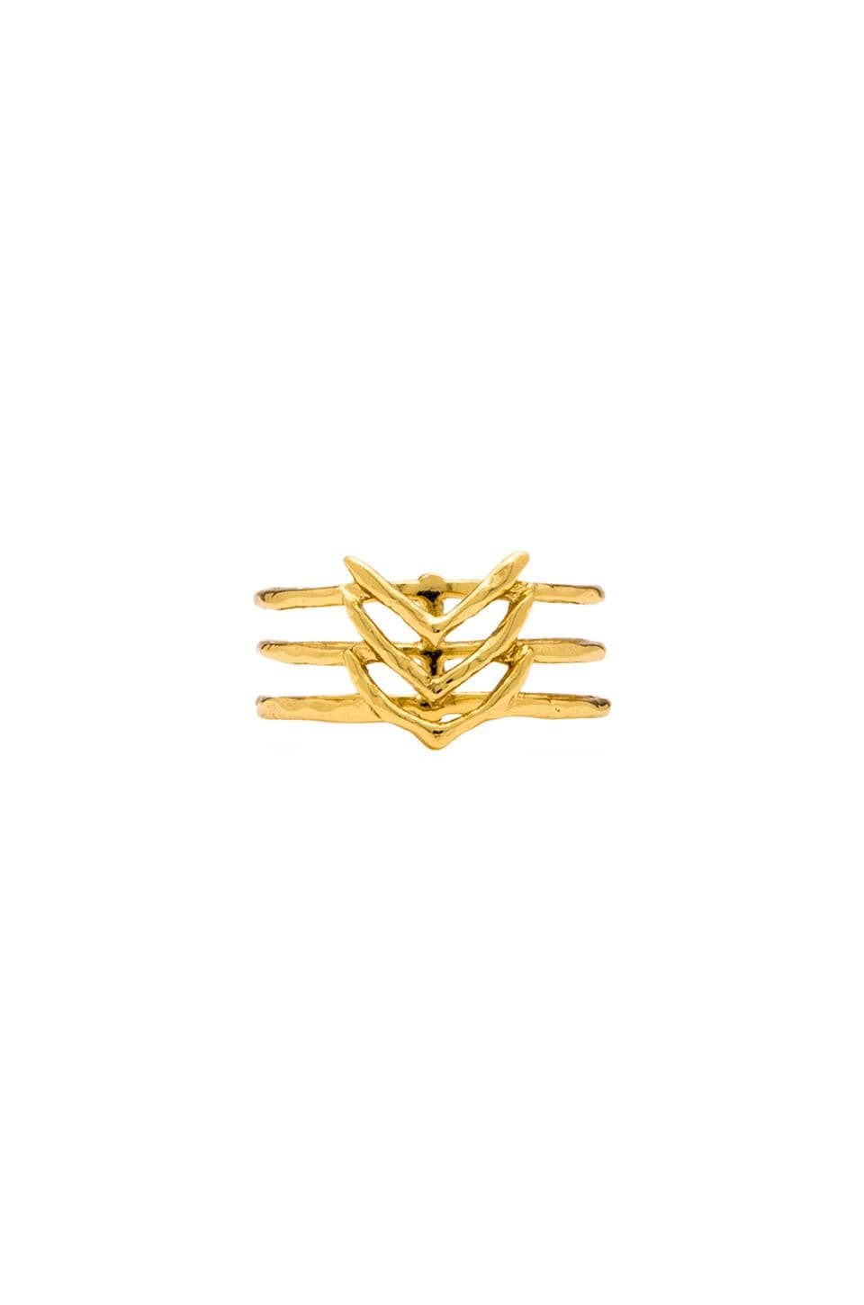 gorjana Mesa Ring in Gold