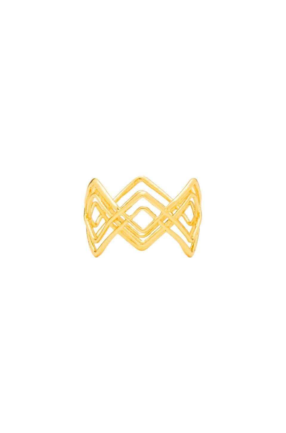 gorjana Mesa Crossover Ring in Gold