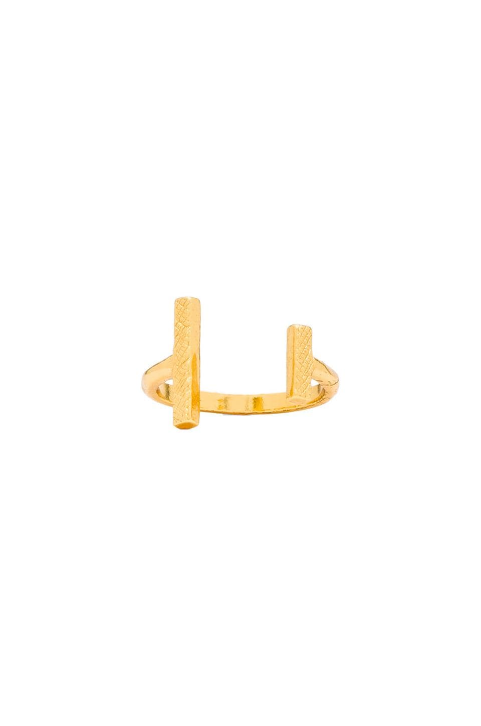 gorjana Athena Cuff Ring in Gold