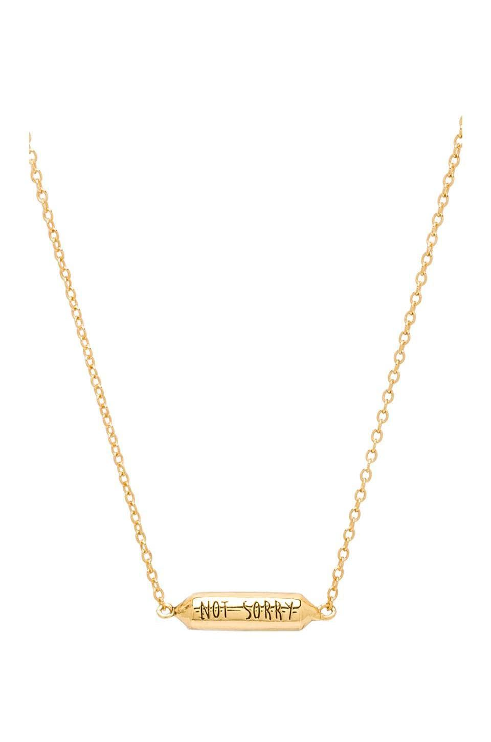 gorjana x REVOLVE Sorry/Not Sorry Necklace in Gold