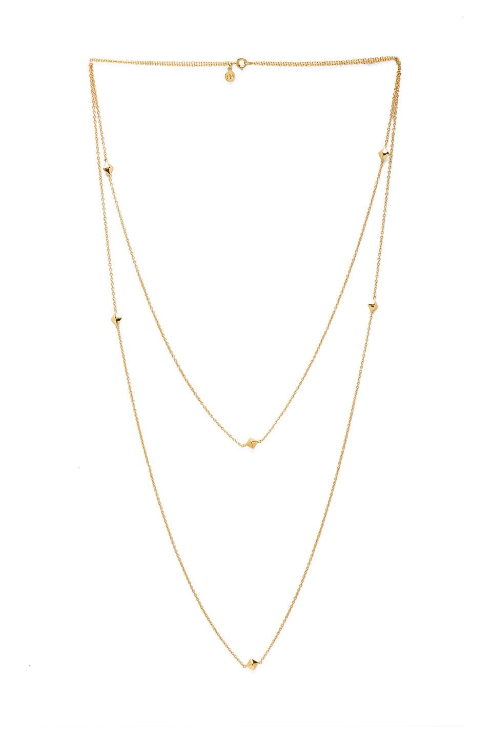 gorjana Lula Pyramid Layer Necklace in Gold