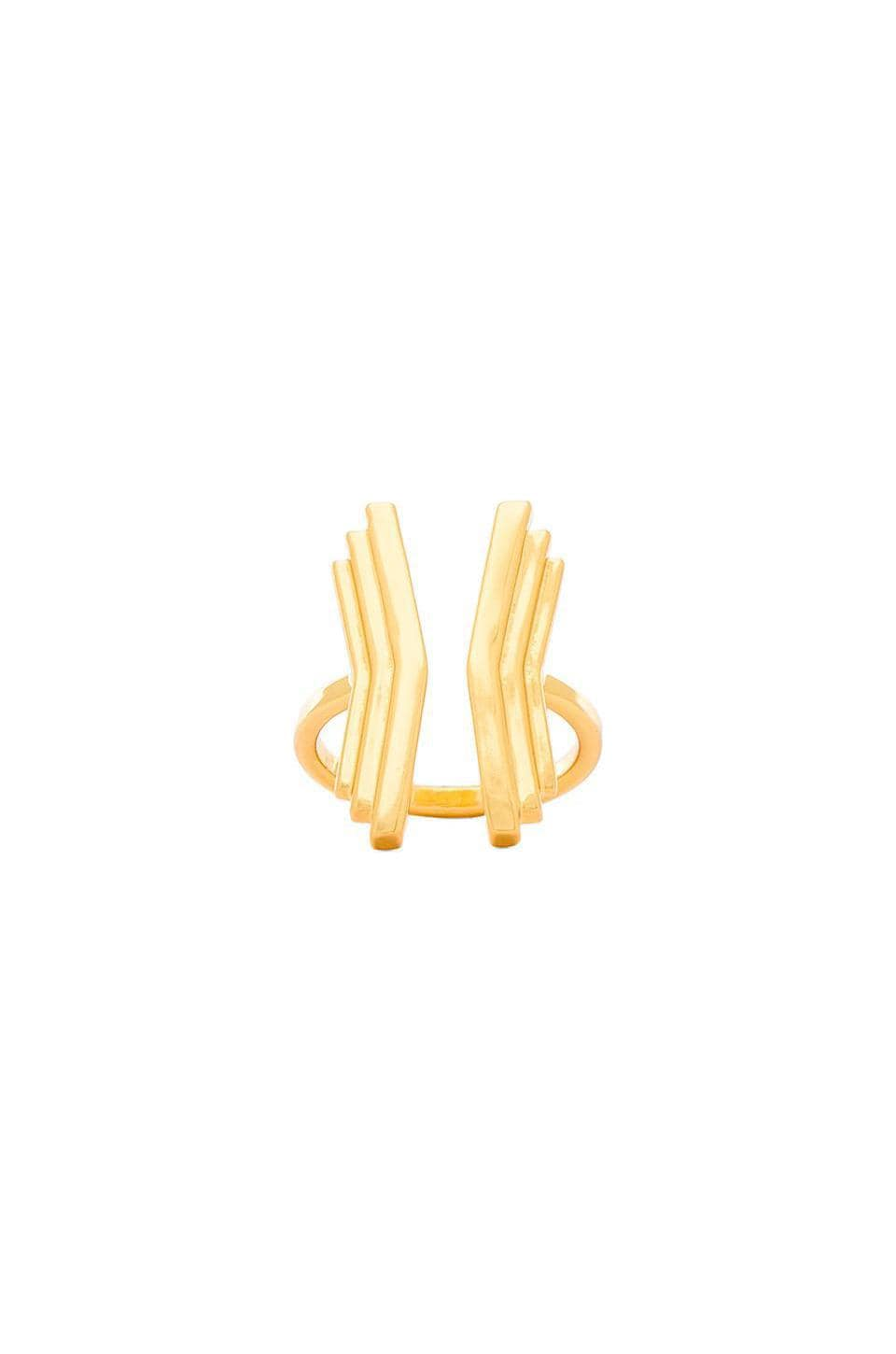 gorjana Downtown Layered Ring in Gold