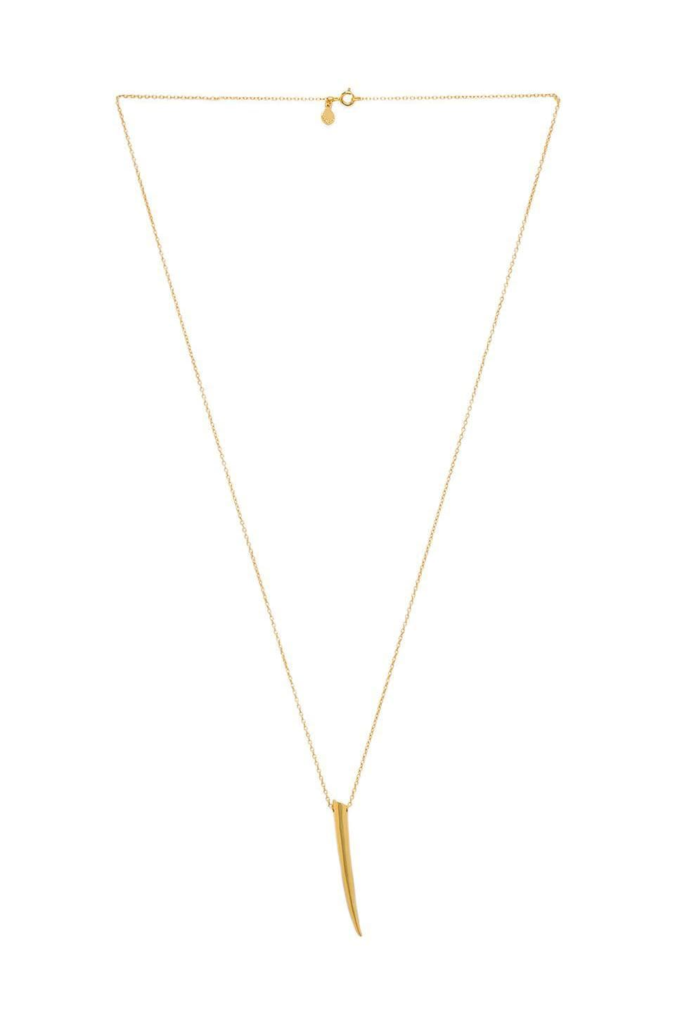 gorjana Fancy Horn Long Necklace in Gold