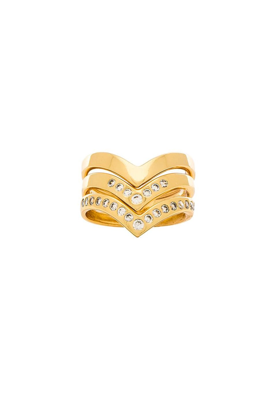 gorjana Tori Ring Set in Gold
