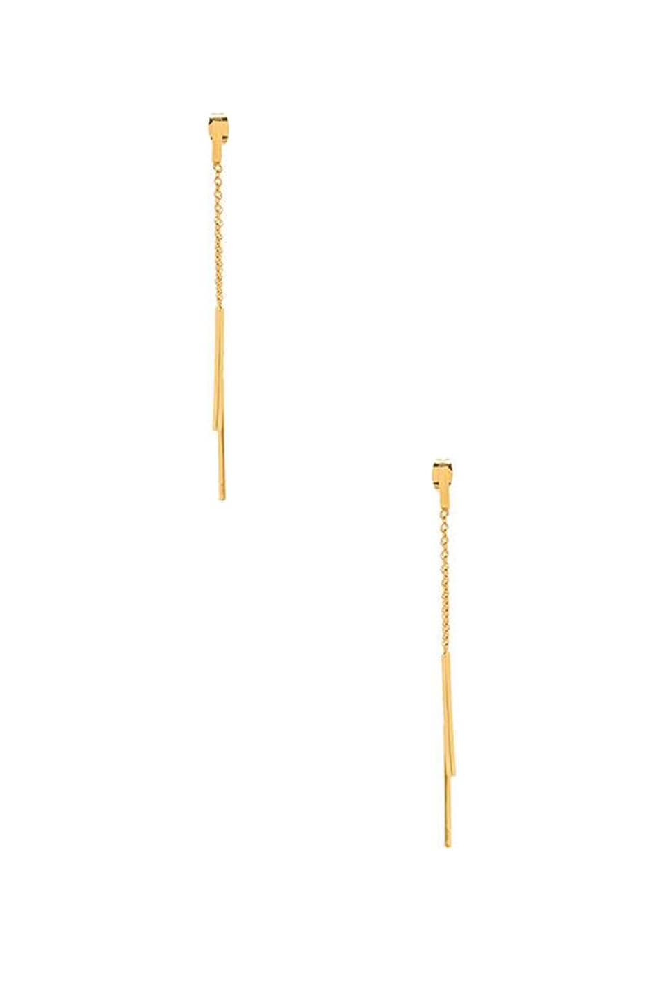 gorjana Mave Double Drop Earrings in Gold