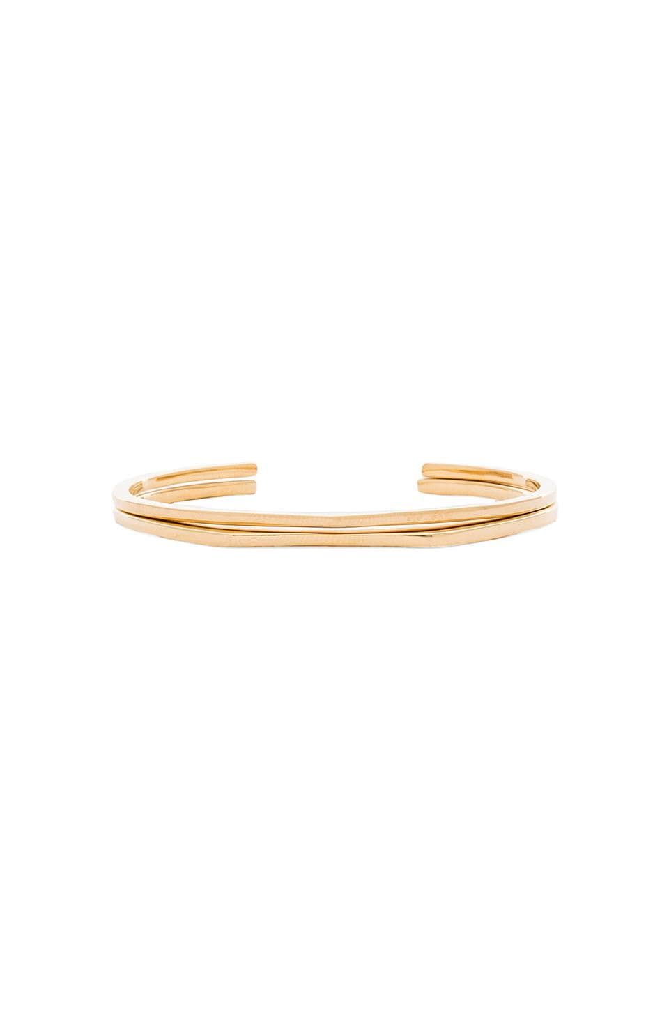 gorjana Mila Cuff Set of 2 in Gold