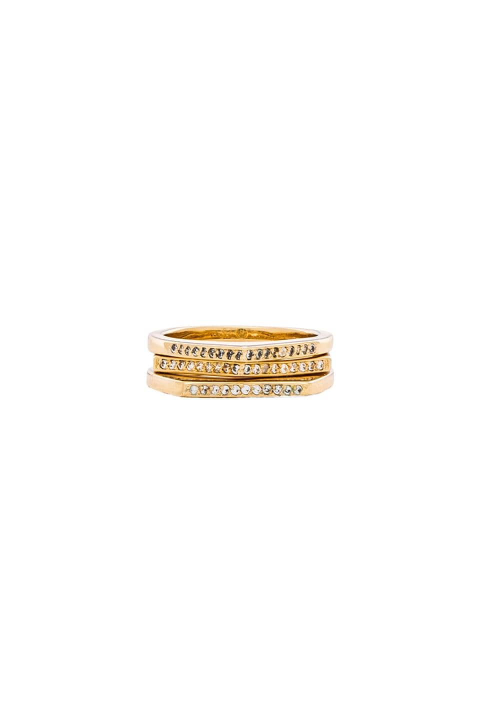 gorjana Mila Shimmer Ring Set in Gold