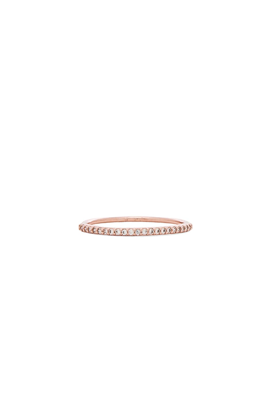 gorjana Shimmer Bar Ring in Rose Gold