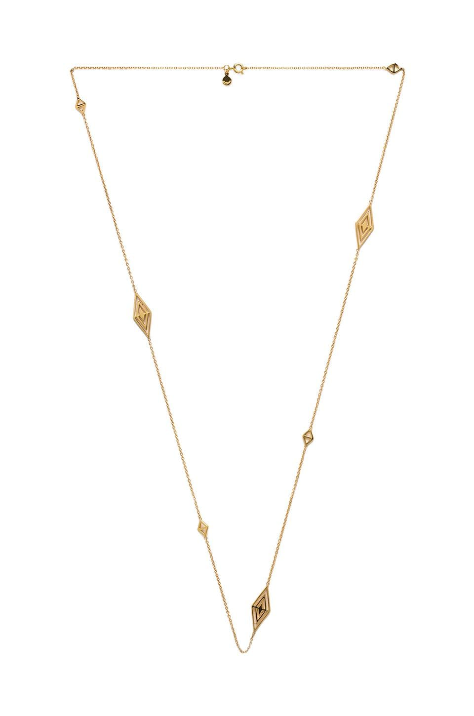 gorjana Tira Wrap Necklace in Gold