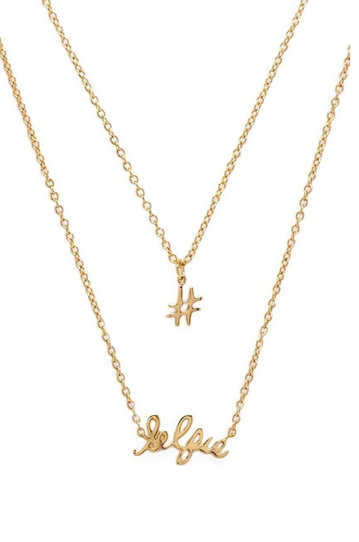 gorjana #Selfie Necklace Set in Gold