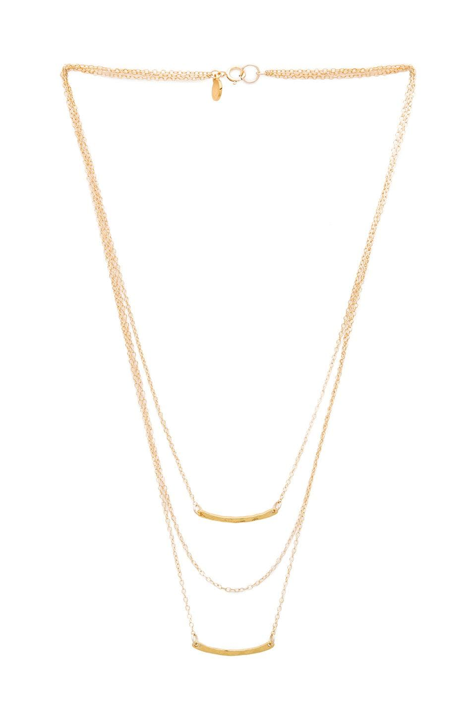 gorjana Taner Bar Mini Triple Layer Necklace in Gold