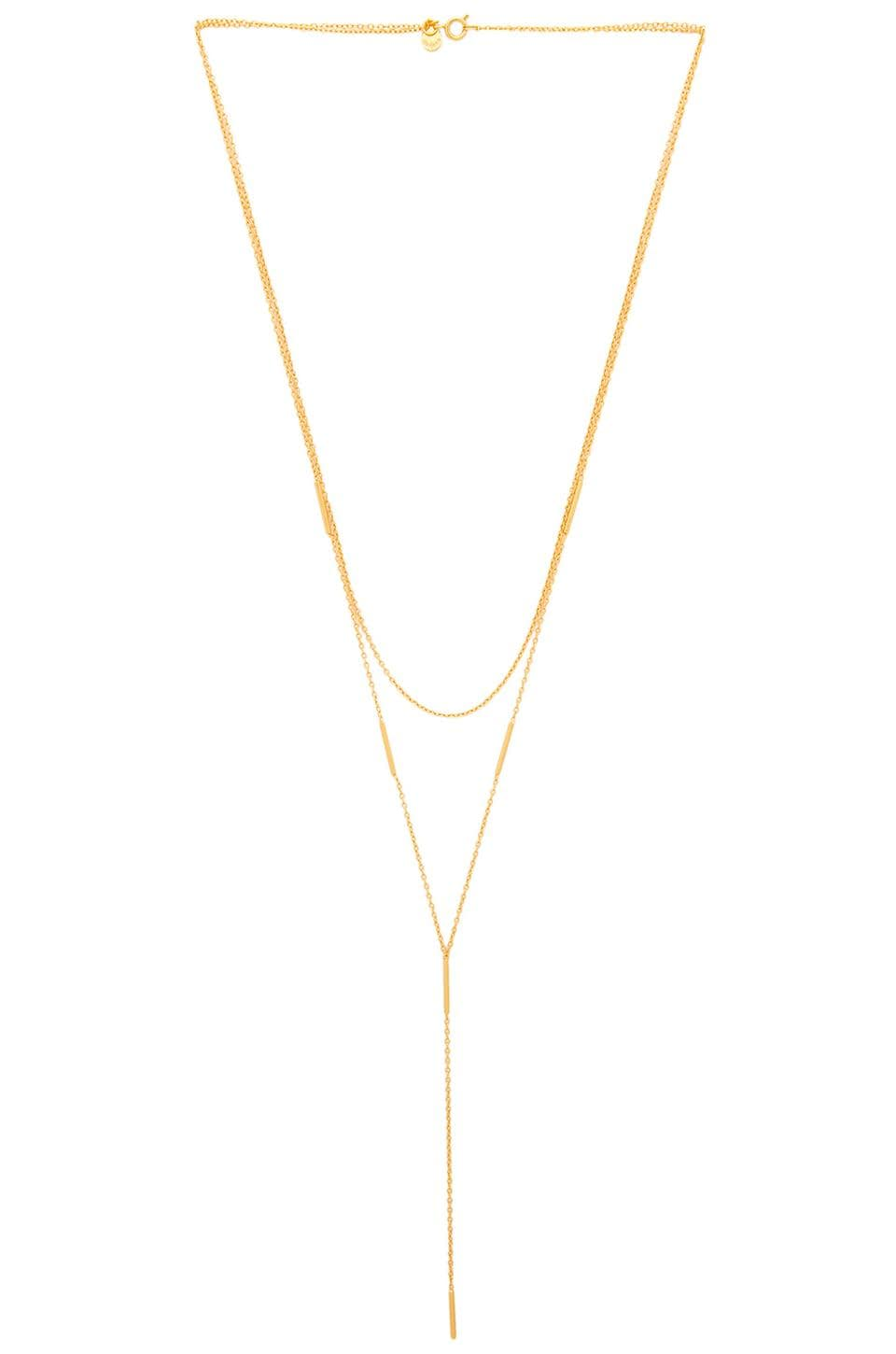 gorjana Nina Layered Lariat in Gold Matte