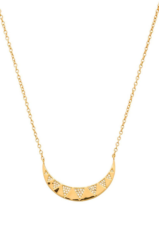 gorjana Crescent Shimmer Necklace in Gold