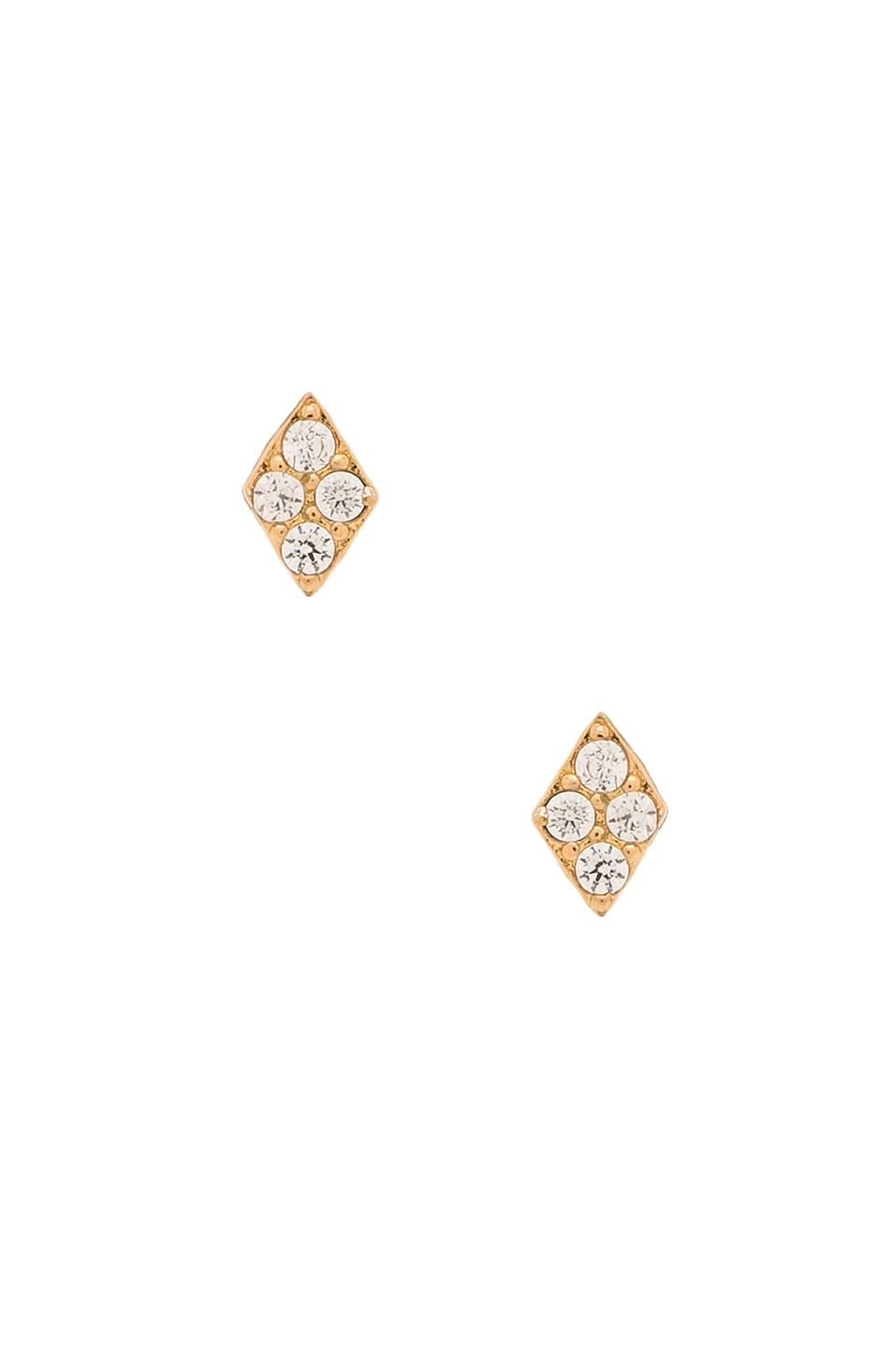 gorjana Petra Shimmer Diamond Stud Earring in Gold