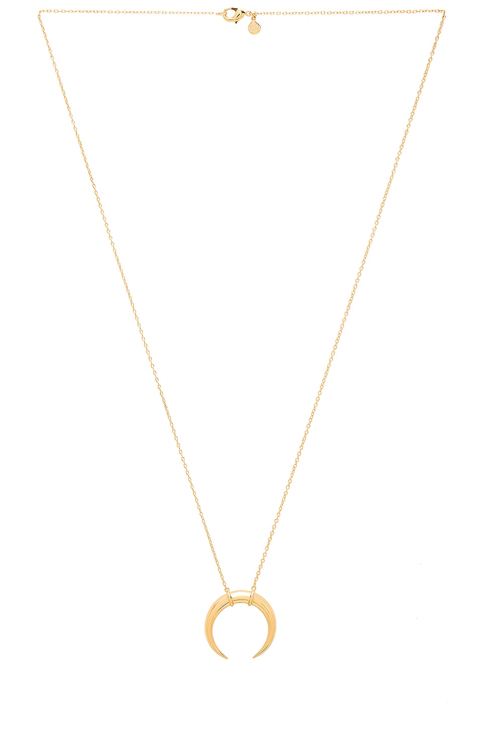 gorjana Cayne Crescent Pendant Necklace in Gold