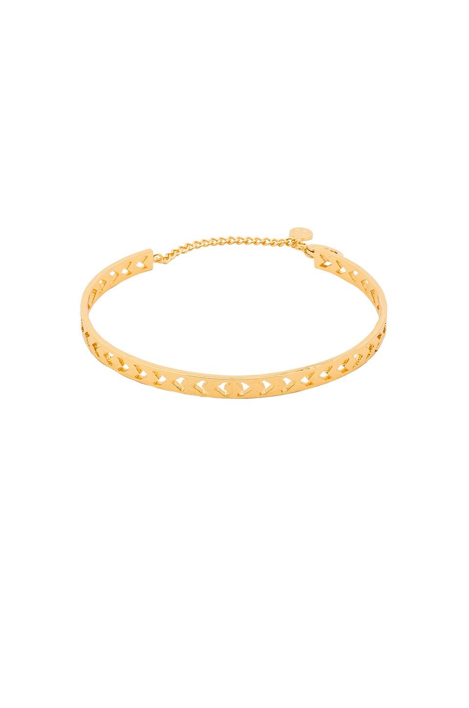 gorjana Kate Chevron Cutout Cuff in Gold