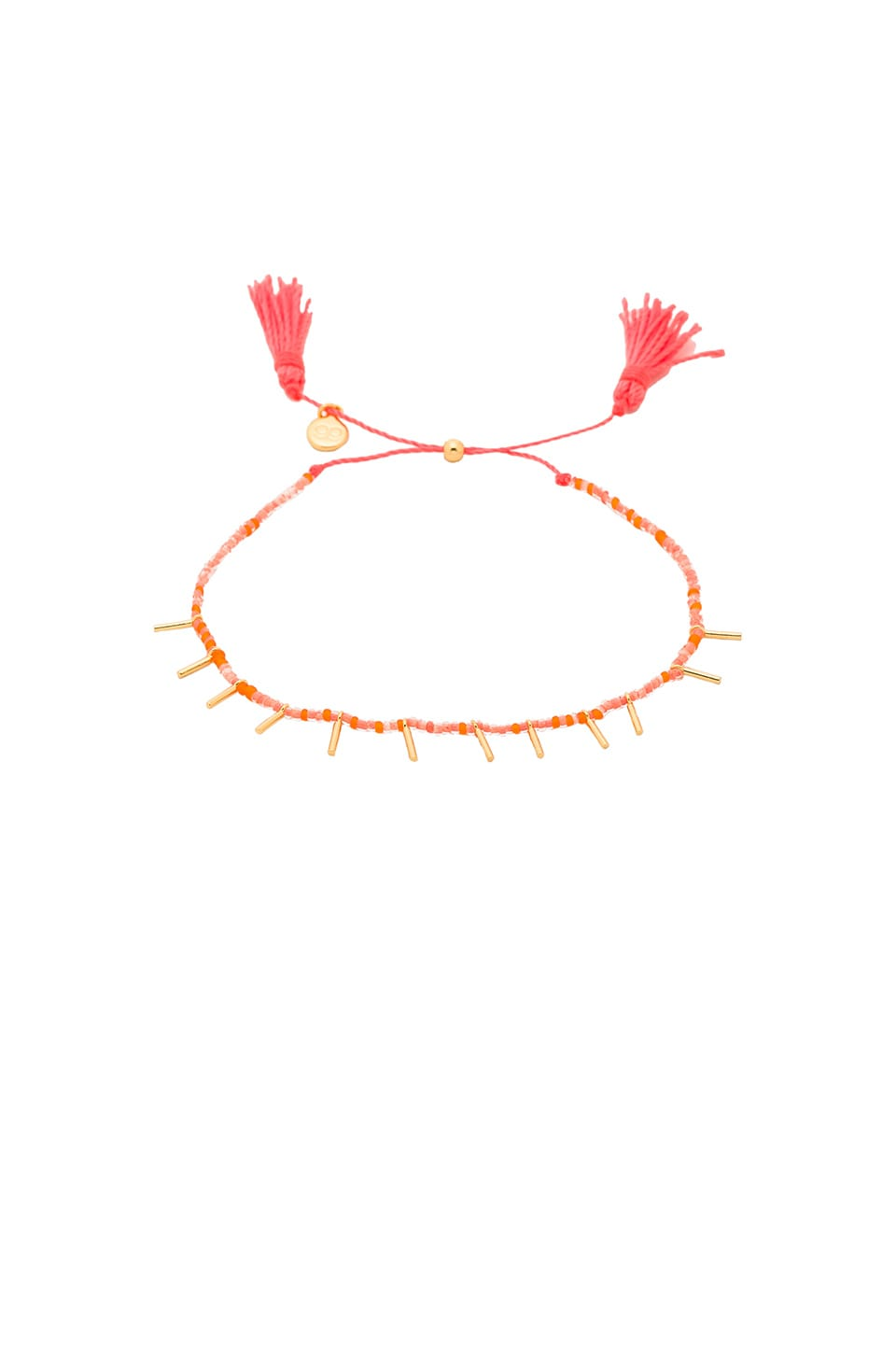 gorjana Marmont Beaded Bracelet in Gold & Coral