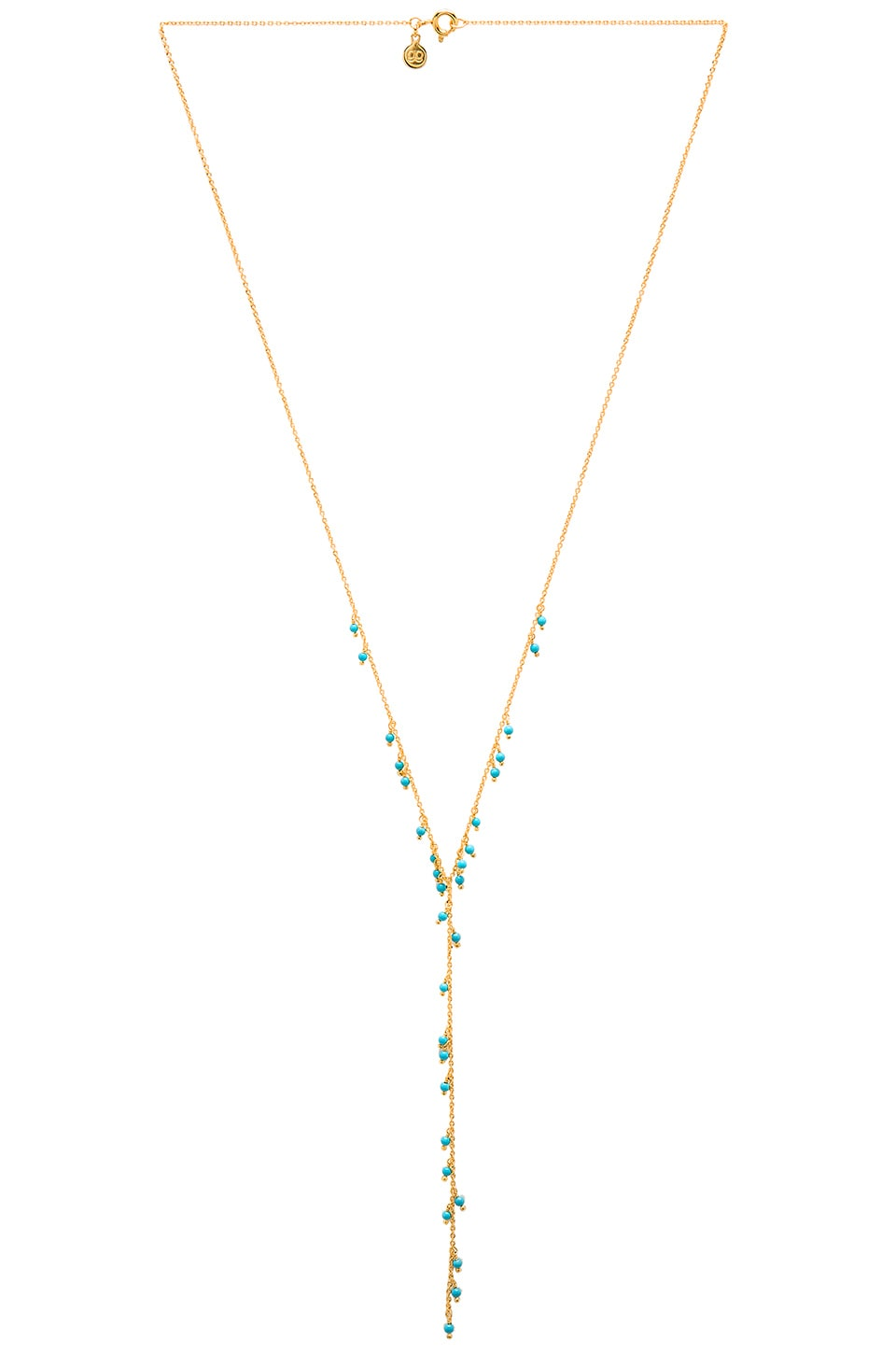 gorjana Lagoon Lariat Necklace in Gold & Turquoise