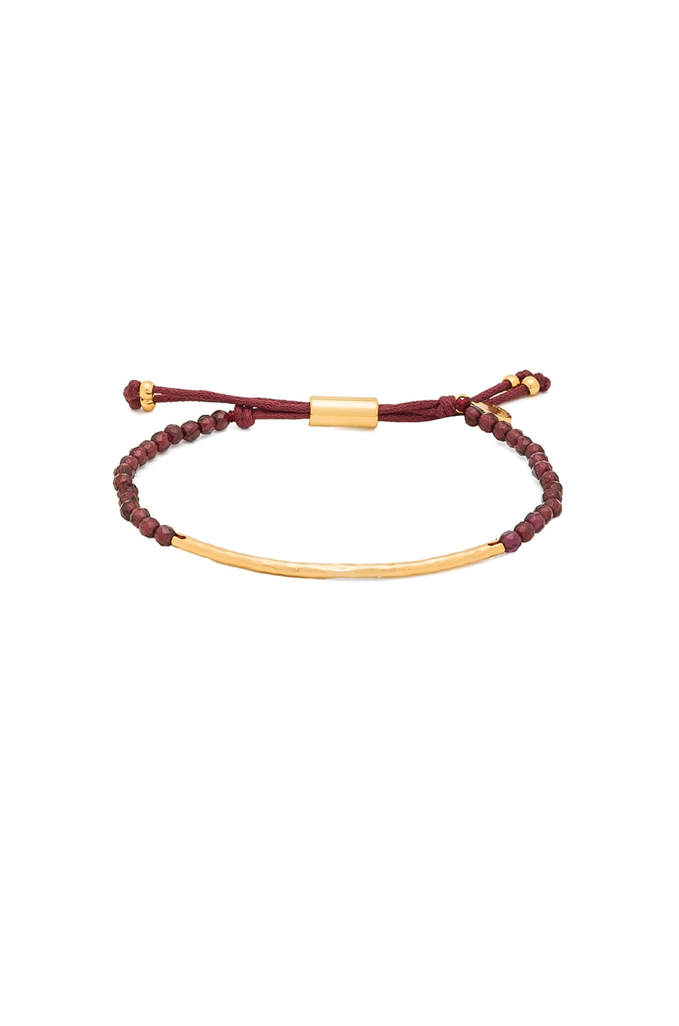gorjana Power Gemstone Bracelet in Gold & Garnet
