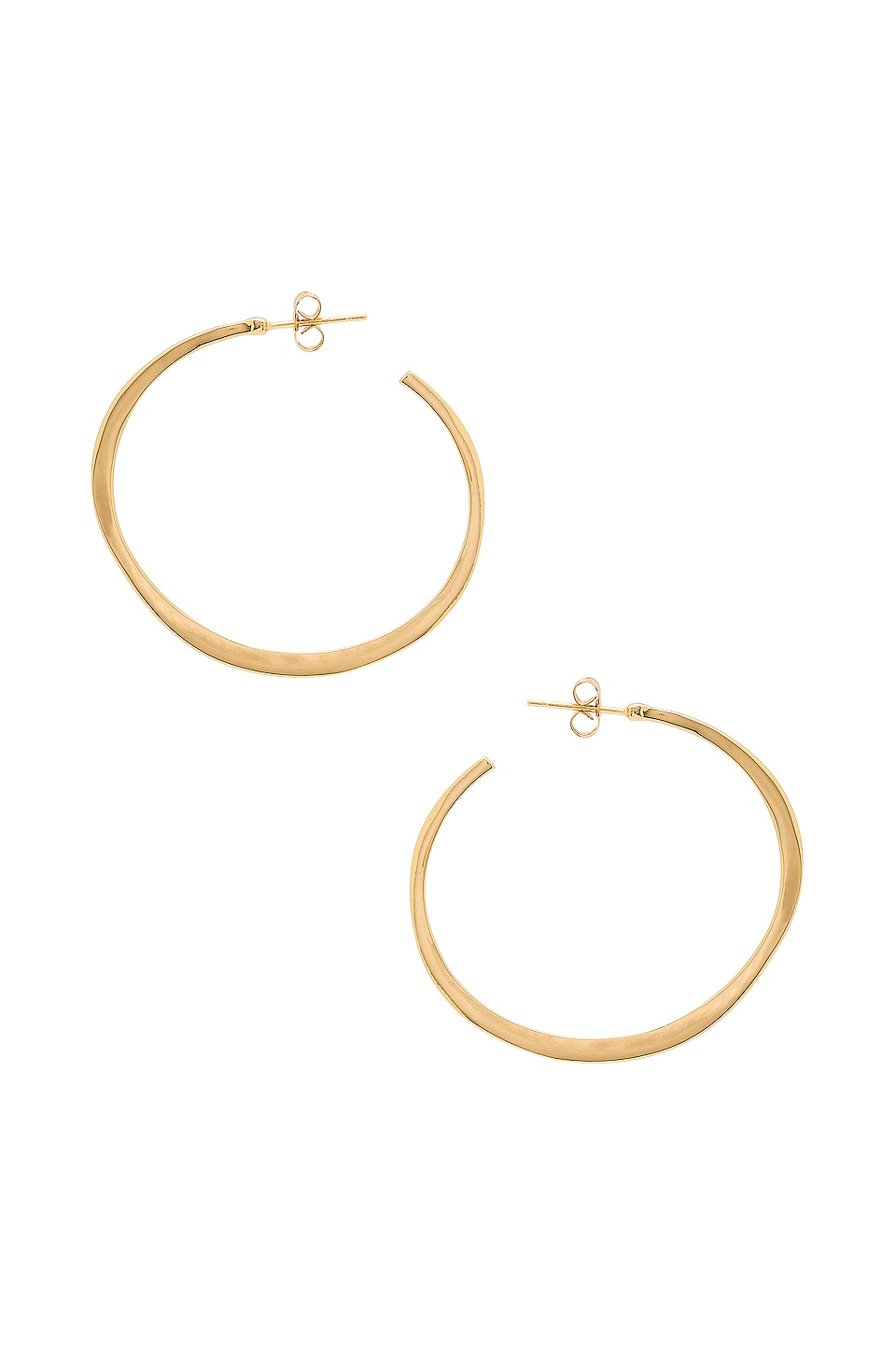 gorjana Arc Large Hoop Earrings in Gold