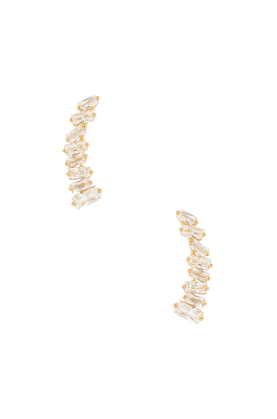 gorjana Amara Ear Climbers in White CZ & Gold