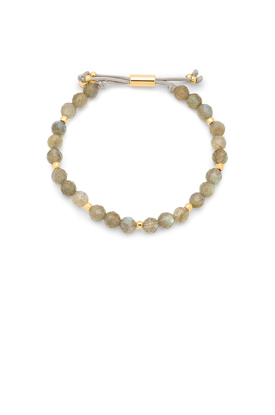 gorjana Power Gemstone Beaded Bracelet in Labradorite & Gold