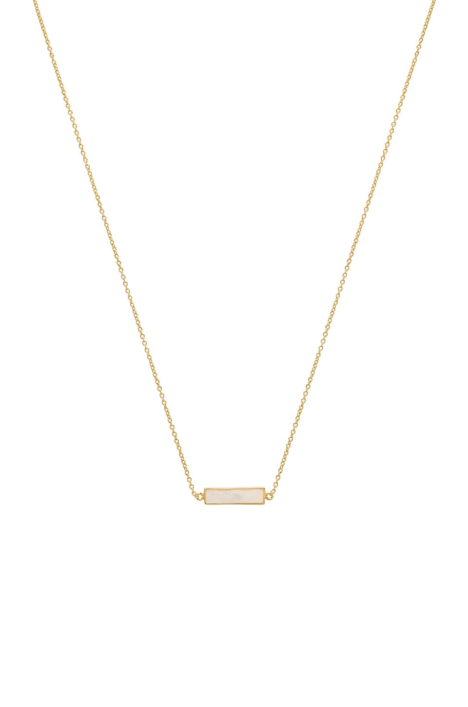 gorjana Dez Bar Necklace in Pink Aventurine