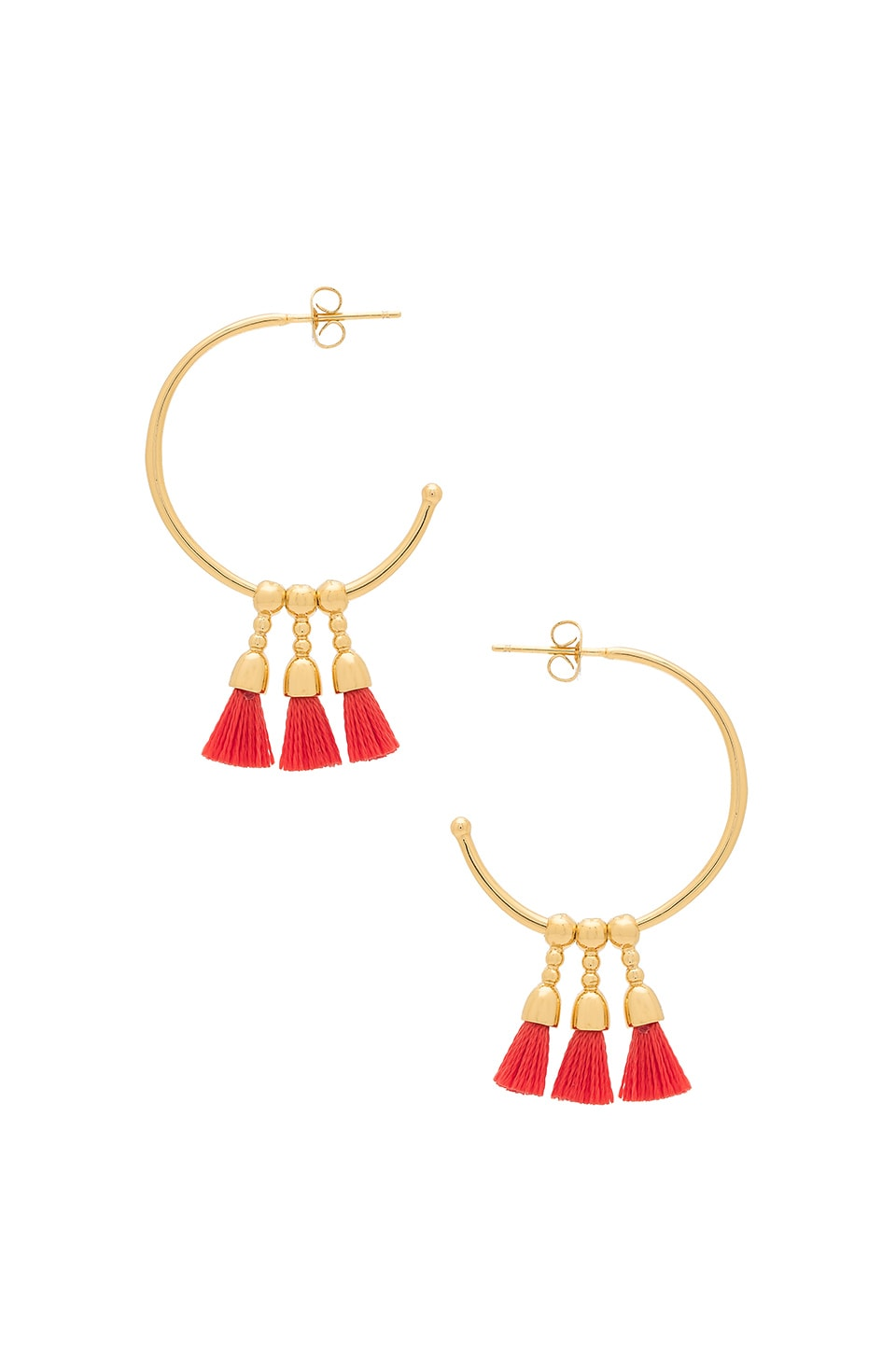 gorjana Baja Hoop Earrings in Poppy & Gold