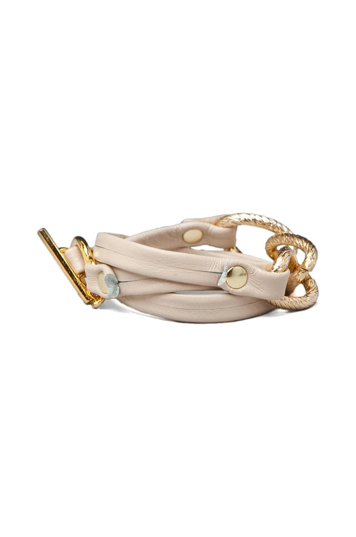 gorjana Parker Leather Wrap Bracelet in Bone
