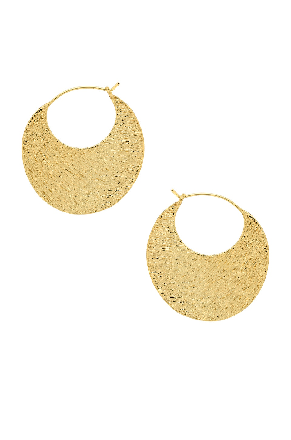 gorjana Rae Profile Hoops in Gold