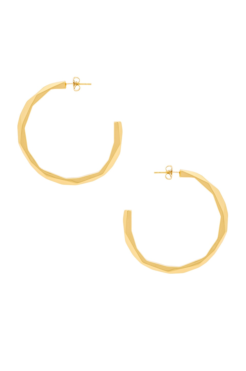 gorjana Geo Hoops in Gold