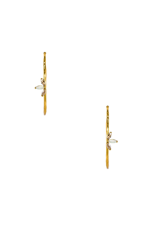 gorjana Perry Hoops in Opalite & Gold