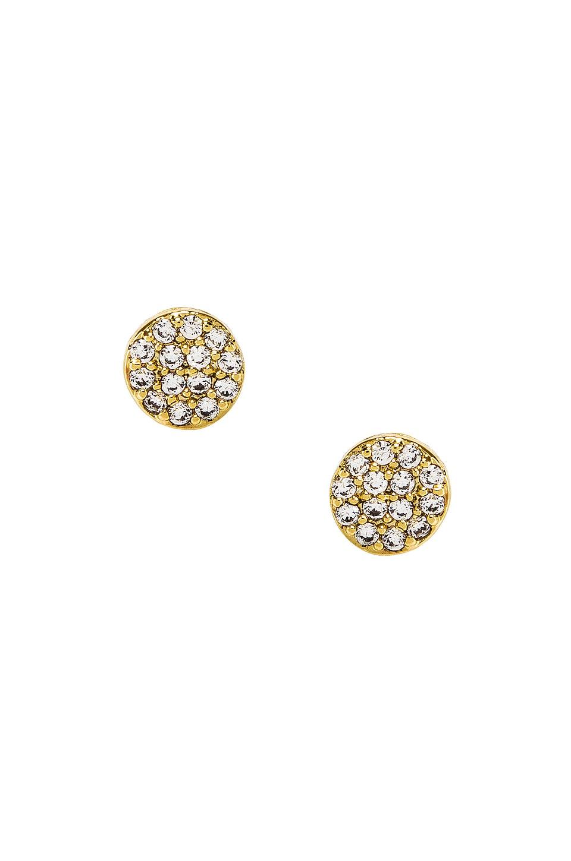 gorjana Pristine Shimmer Charm Studs in White CZ & Gold