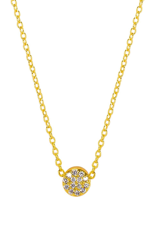 gorjana Adjustable Pristine Shimmer Charm Necklace in White CZ & Gold