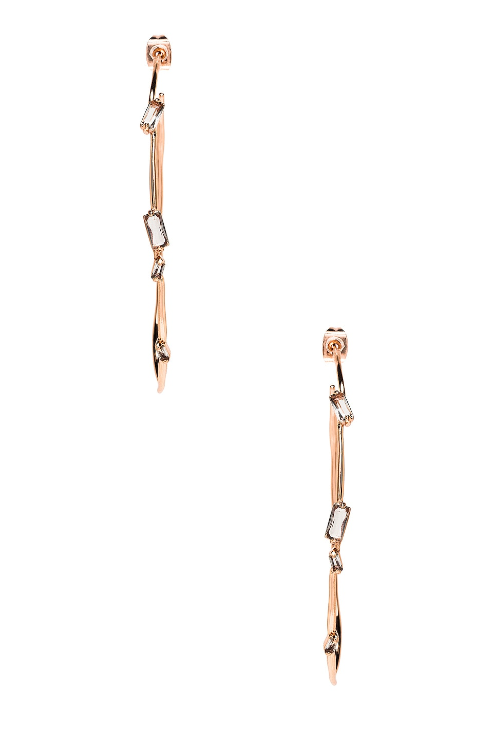gorjana Amara Hoops in Grey Glass & Rose Gold