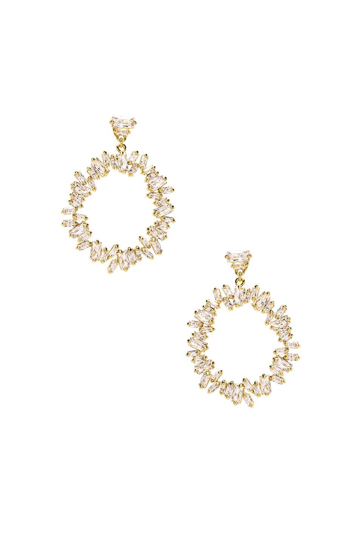 gorjana Amara Cluster Drop Hoops in Gold