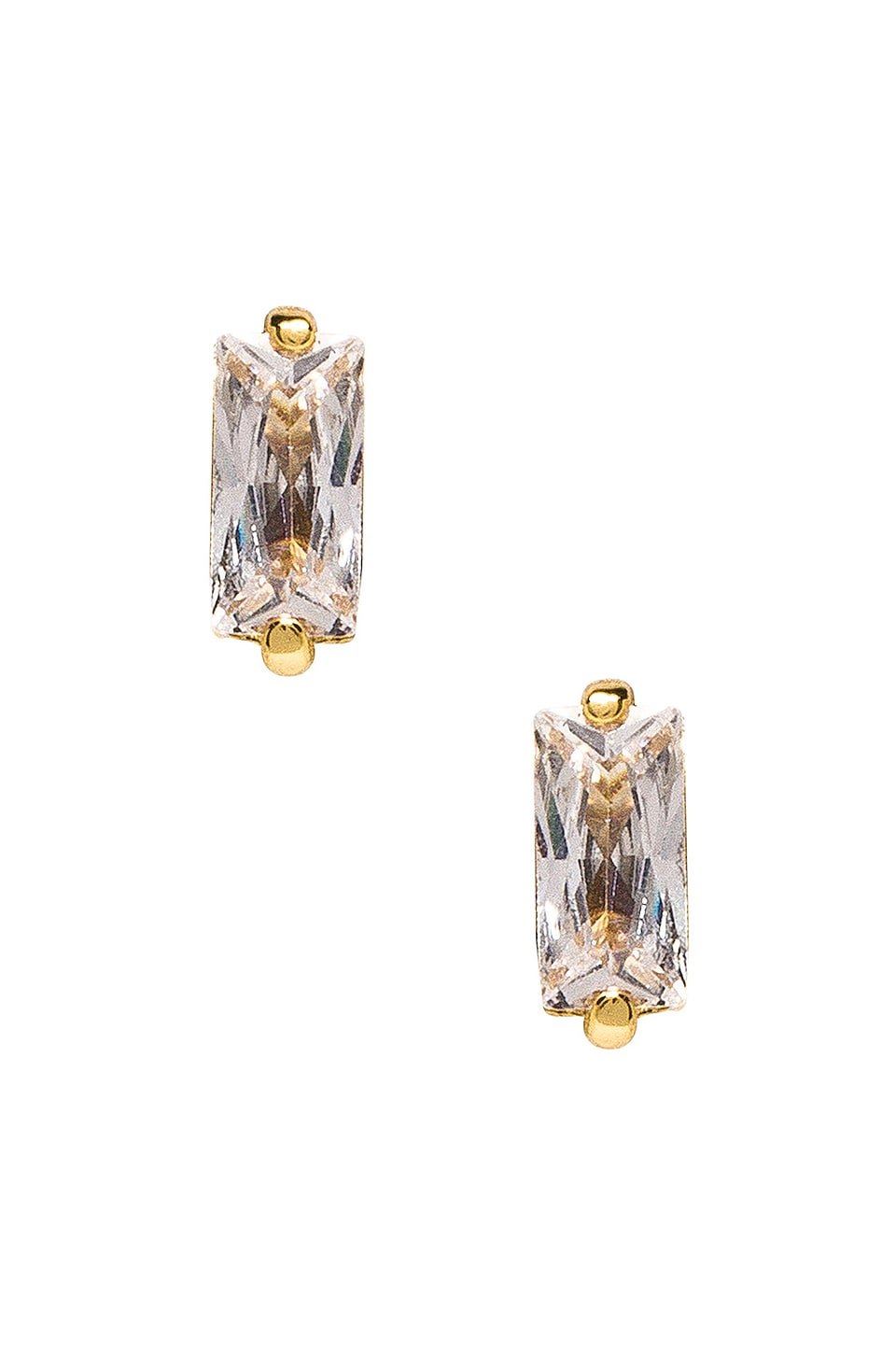 gorjana Amara Studs in White CZ & Gold
