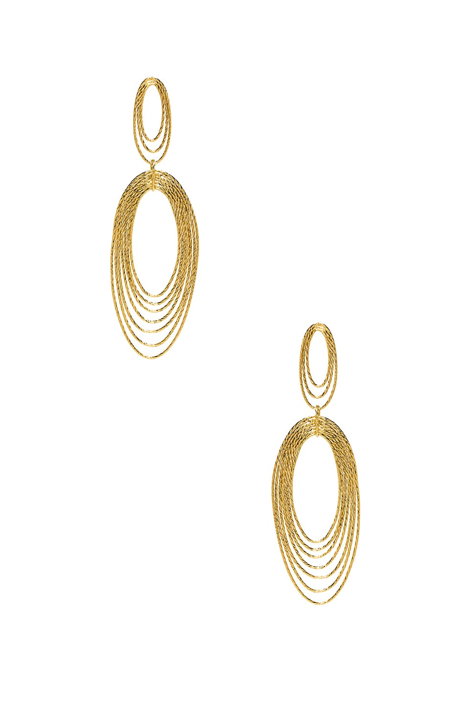 gorjana Presley Statement Drop Earrings in Gold