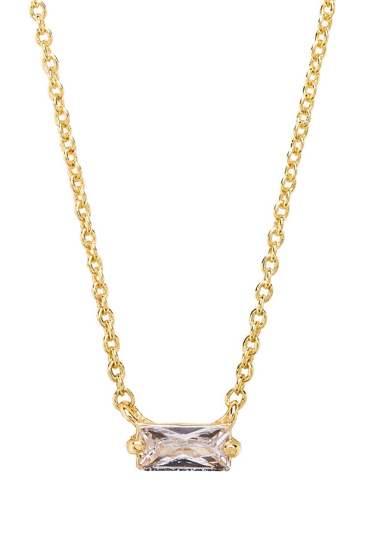 gorjana Amara Solitaire Necklace in White CZ & Gold