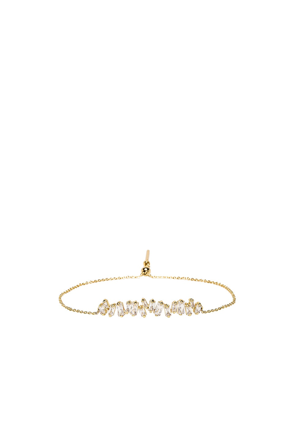 gorjana Amara Adjustable Bracelet in White CZ & Gold