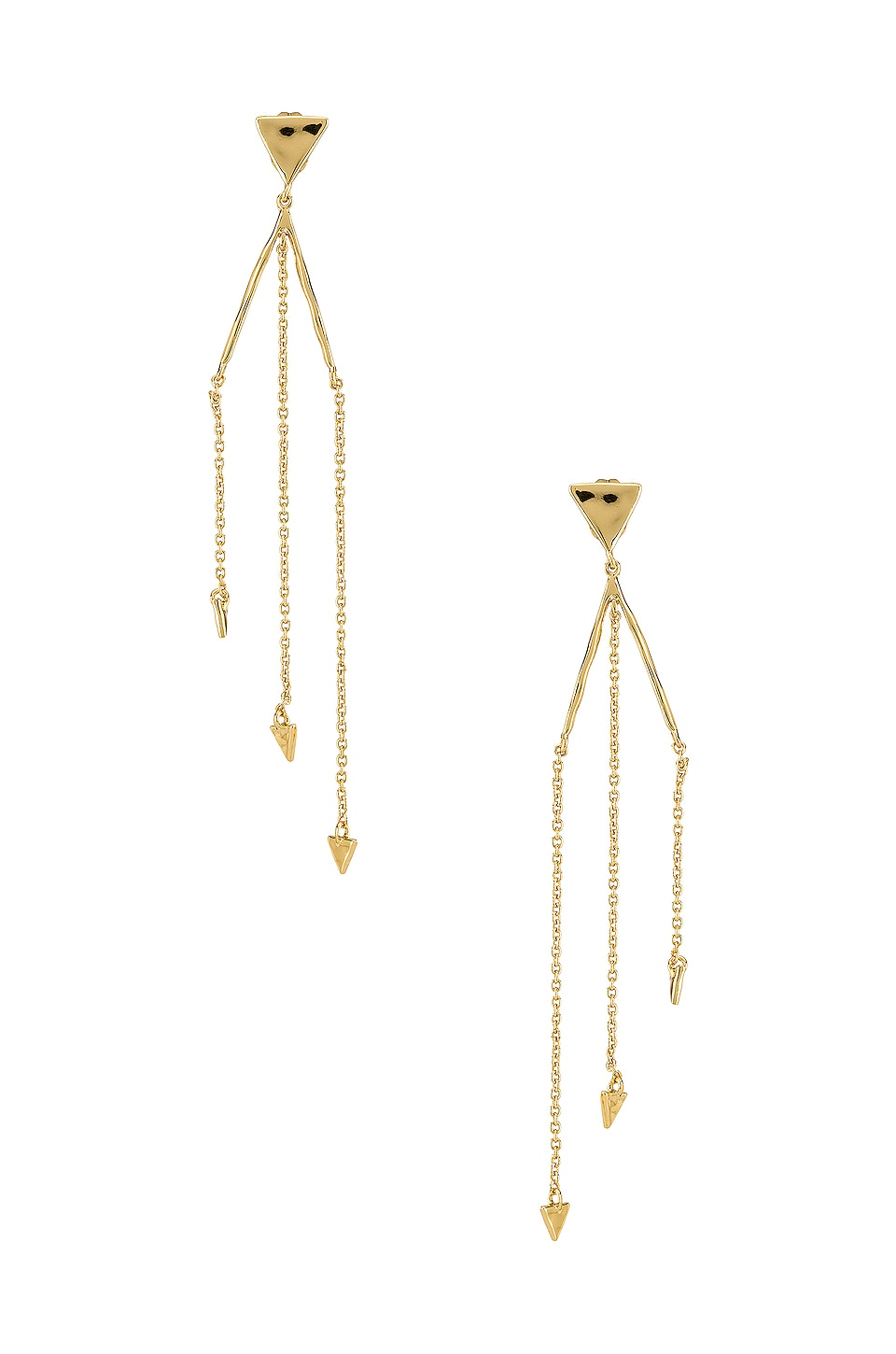 gorjana Luca Triangle Earrings in Gold