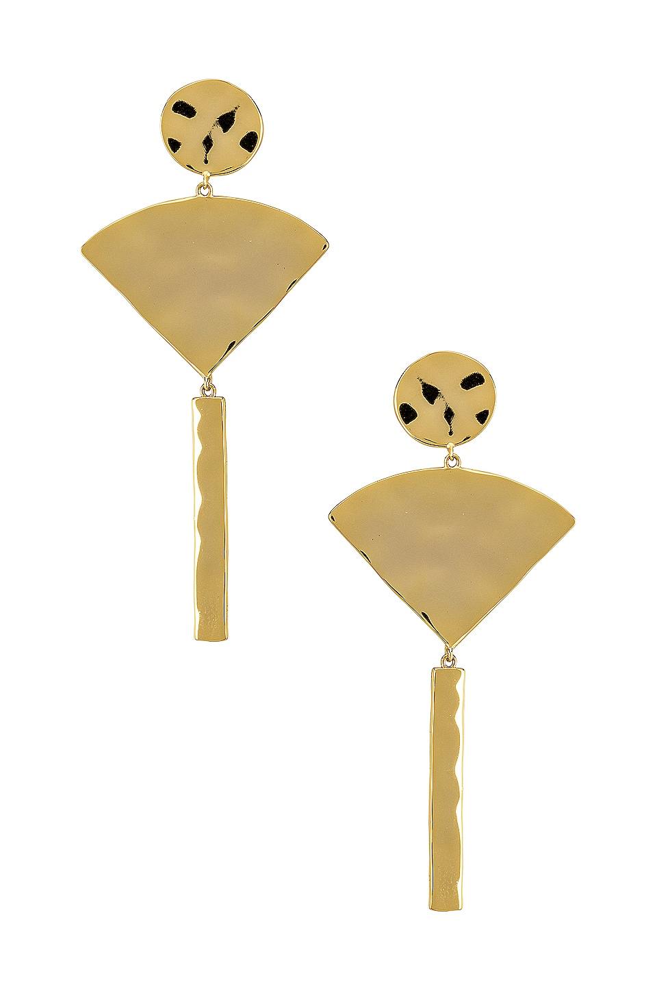 gorjana Luca Fan Earrings in Gold