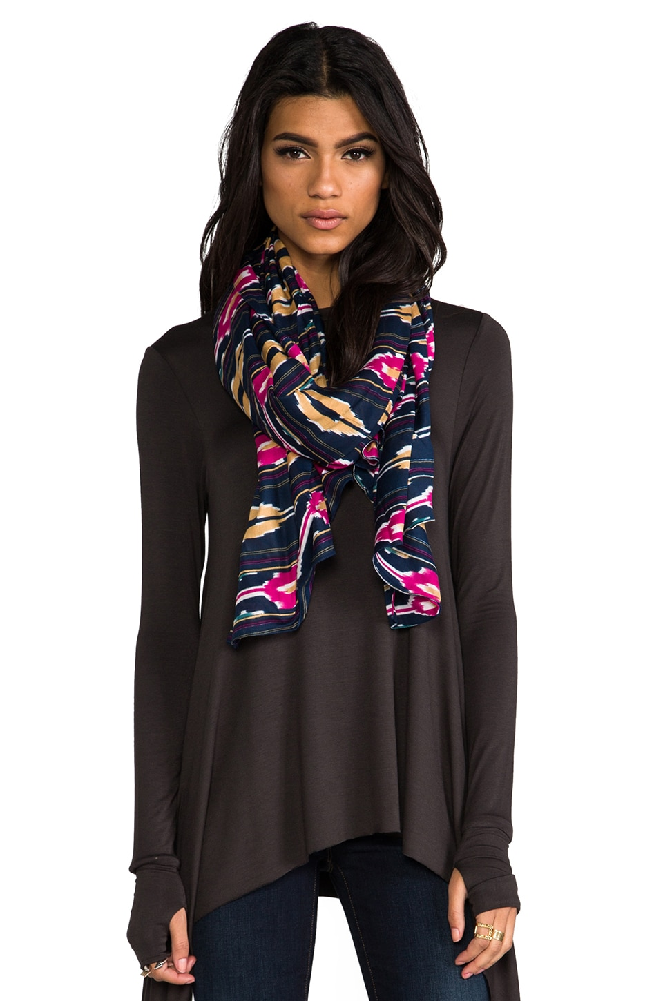 gorjana Canyon Scarf in Navy Multi