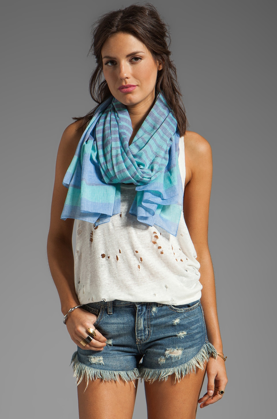 gorjana Waterfront Scarf in Blue